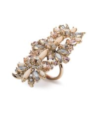 Marchesa - Metallic Petunia Stone Cocktail Ring - Lyst