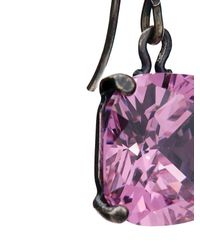 Bottega Veneta | Pink Cubic Zirconia And Silver Drop Earrings | Lyst
