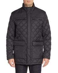 Marc New York | Black Fulton Quilted Jacket for Men | Lyst