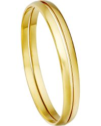 Astley Clarke | Metallic Inverted Stackable 18Ct Gold Bangles | Lyst