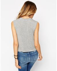 ASOS - Brown Forever Sleeveless Tank Top - Lyst