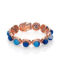 Eddie Borgo - Blue Stripe Agate Dome Bracelet - Lyst
