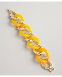 Kenneth Jay Lane | Orange Gold And Citrus Resin Link Bracelet | Lyst