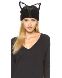 Markus Lupfer - Fox Face Beanie Hat - Black - Lyst