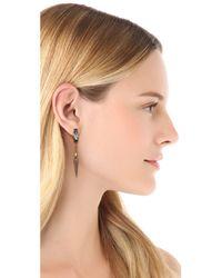 Bing Bang - Metallic Baguette Crystal Spike Drop Earrings - Lyst