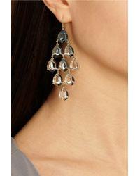 Ippolita - Blue Gemma Cascade 18-Karat Gold, Quartz And Topaz Earrings - Lyst