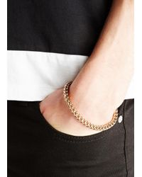 Vitaly | Metallic Kusari Gold Tone Bracelet for Men | Lyst