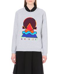 KENZO | Gray Mountain Cotton-jersey Sweatshirt | Lyst