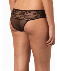 Stella McCartney - Black Georgia Glowing Leavers Lace Briefs - Lyst