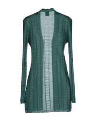 M Missoni | Green Wool-blend Striped Sweater | Lyst