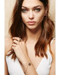 Forever 21 - Pink Amber Sceats Fine Druzy Hand Chain - Lyst