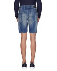 0/zero Construction - Blue Denim Bermudas for Men - Lyst