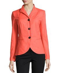 Lafayette 148 New York - Pink Allison Wing-collar Jacket - Lyst