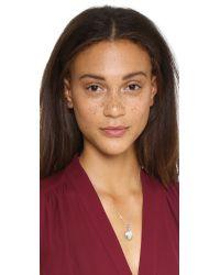 Monica Rich Kosann   Metallic Petite Pinstipe Locket Necklace - Silver   Lyst
