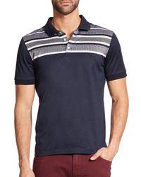 Ferragamo | Blue Herringbone Cotton Polo for Men | Lyst