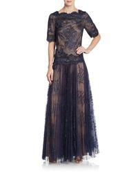 Tadashi Shoji - Blue Two-piece Lace Top & Skirt Set - Lyst