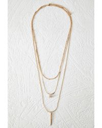 Forever 21 | Metallic Spike Charm Layered Necklace | Lyst