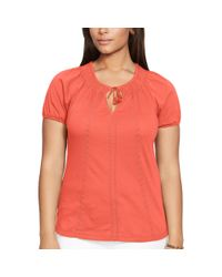 Ralph Lauren - Embroidered Cotton Top - Lyst