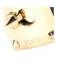 Fendi | Metallic Goldmine Snakeskin Cuff | Lyst