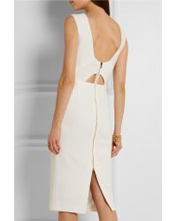 Roland Mouret   White Folded Textured-crepe Dress   Lyst