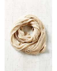 Urban Outfitters | Natural Drop Needle Shred Eternity Scarf | Lyst