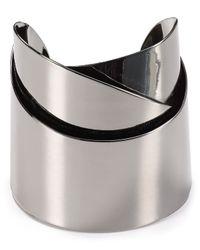 Alexis Bittar - Metallic Miss Havisham Metal Geometric Ribbon Cuff - Lyst