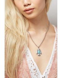Forever 21 | Blue Peyote Bird Turquoise Thunderbird Necklace | Lyst