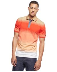 Sean John | Red Ombre Striped Polo for Men | Lyst