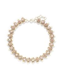 J.Crew | White Flower Stone Necklace | Lyst