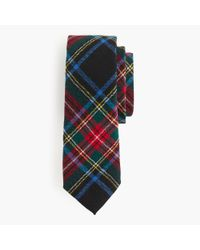J.Crew | Black English Wool Tie In Stewart Plaid for Men | Lyst