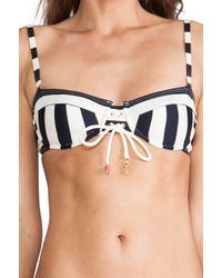 Juicy Couture - Black Boho Stripe Top in Navy - Lyst