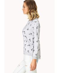 Forever 21 | Gray Anchors Away Sweater | Lyst