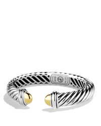 David Yurman - Metallic Waverly Bracelet With Gold Domes - Lyst