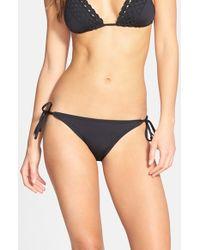 Becca | Blue 'color Code' Side Tie Bikini Bottoms | Lyst