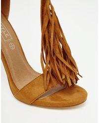 Truffle Collection - Brown Rita Tassel Heeled Sandals - Tan Mf - Lyst