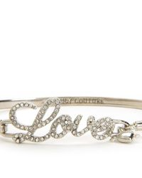 Juicy Couture | Metallic Pave Love Bangle | Lyst