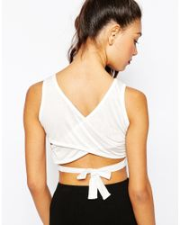 Daisy Street | Multicolor Cross Back Crop Top - Cream | Lyst