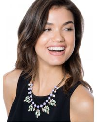 BaubleBar | Metallic Crystal Elsa Bib-green/antique Gold | Lyst