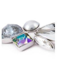 Ca&Lou - Metallic Single Crystal Drop Earring - Lyst