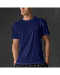 Polo Ralph Lauren | Blue Crewneck T-shirt for Men | Lyst