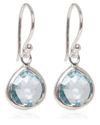 Dinny Hall - Metallic Silver Blue Topaz Jaipur Drop Earrings - Lyst