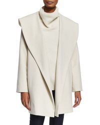 The Row - White Shawl-Collar Crepe Jacket - Lyst