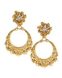 Jose & Maria Barrera | Blue Glittering Golden Star Clip Earrings | Lyst