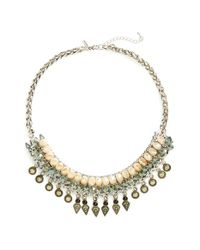 TOPSHOP - Metallic Beaded Statement Necklace - Lyst