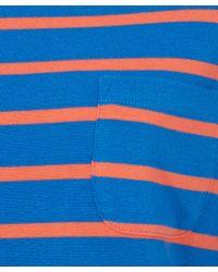 YMC - Red Blue Breton T-shirt - Lyst