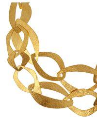 Herve Van Der Straeten - Metallic Goldplated Multi Layer Necklace - Lyst
