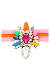 Shourouk - Pink Tube Bracelet - Lyst