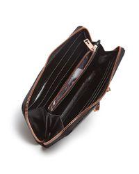 Ted Baker | Black Freesia Zip Around Matinee Wallet | Lyst