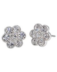 Carolee | Metallic Floral Crystal Stud Earrings | Lyst