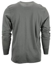 47 Brand - Gray Men's Long-sleeve Miami Heat Flanker T-shirt for Men - Lyst